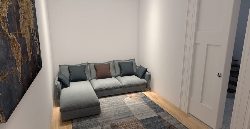 Appartamento Via Vittorio Bottego Interior Design Render