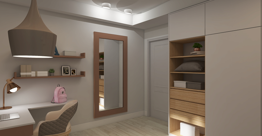 Teen Bedroom Interior Design Render