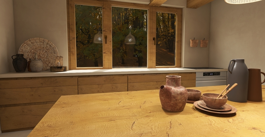 House Wabi Sabi Interior Design Render
