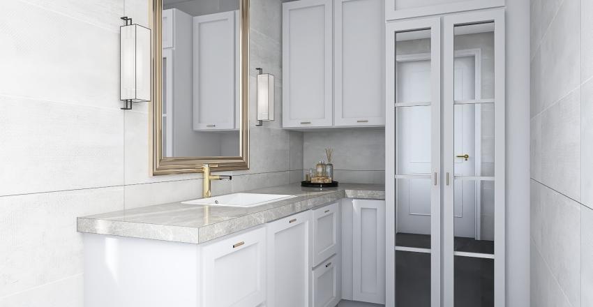 Bathroom Laundry Cabinet / banyo dolabı H. ALG Interior Design Render