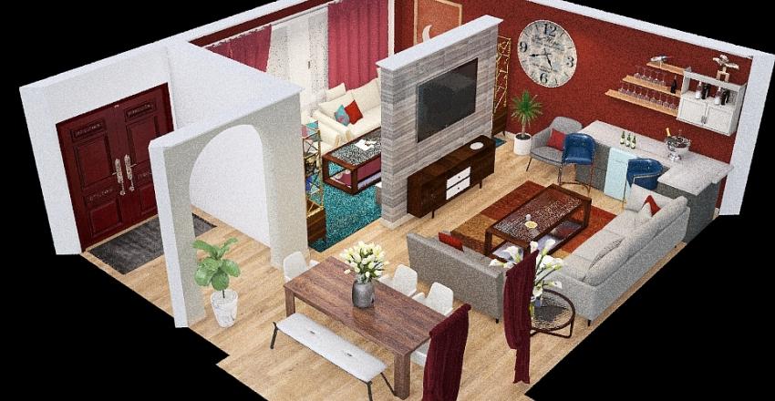 Final Turpn's Greatroom Floorplan Design Interior Design Render
