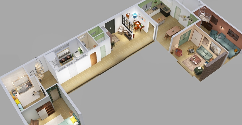 Retiers - Mars 2021 Interior Design Render