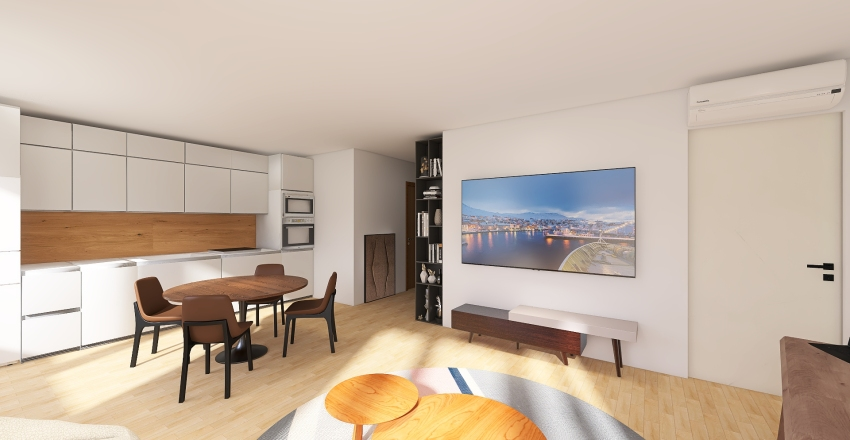 Apartments 52m with 1 bedroom, Moscow v2 Interior Design Render