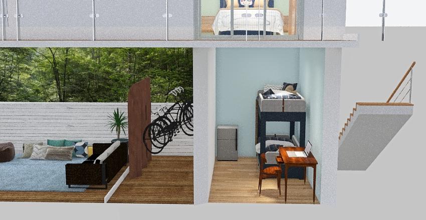 puxadinho Interior Design Render
