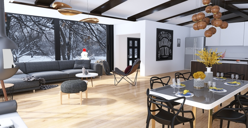 casa nordica Interior Design Render