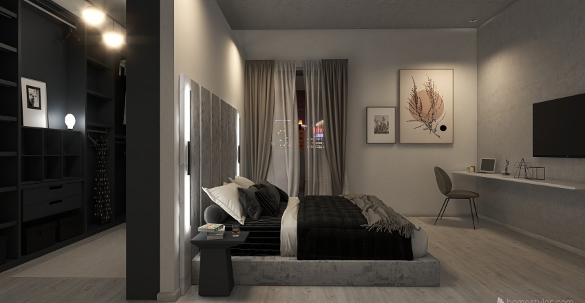 Loft in The Eternal City of Rome Interior Design Render