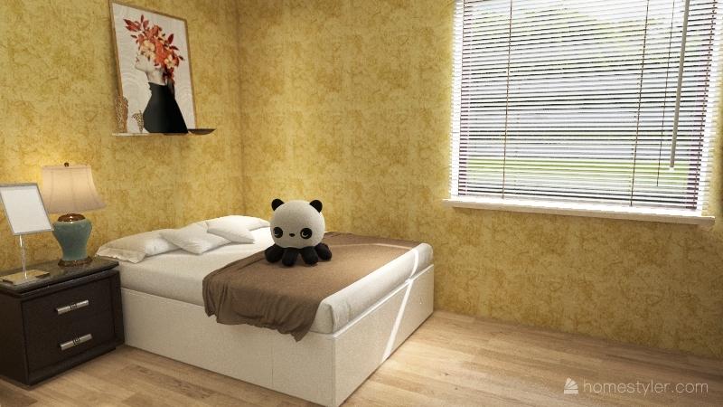 Однокомнатная квартирка Interior Design Render