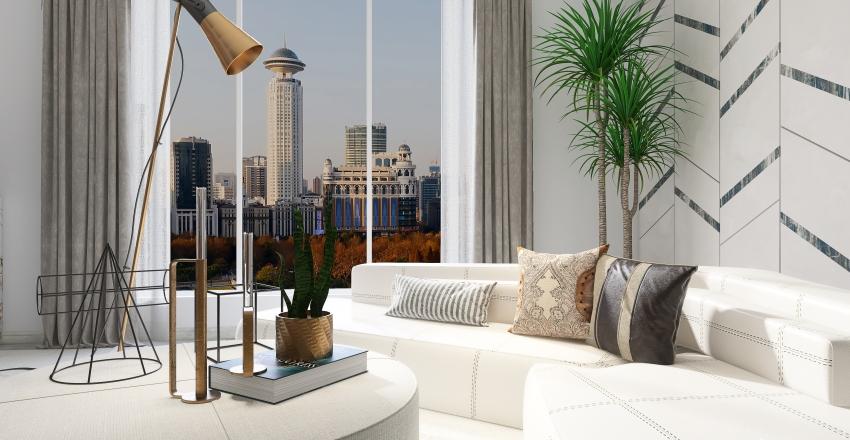 modern elegance: studio apartment Interior Design Render