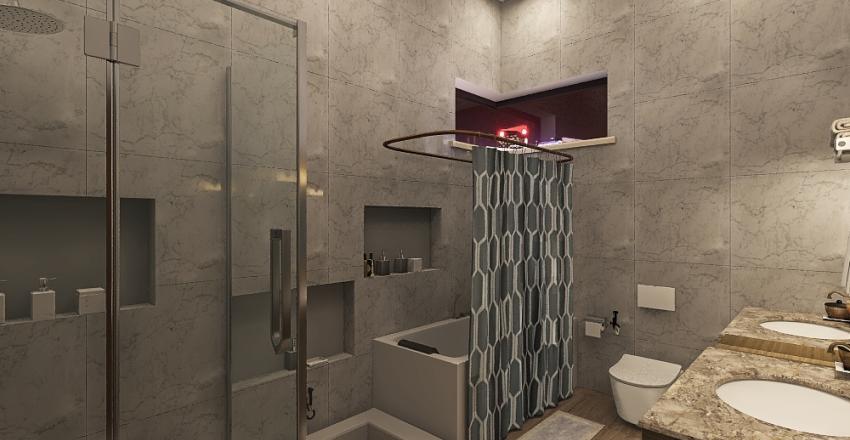 Industrial Emirati Bath Interior Design Render