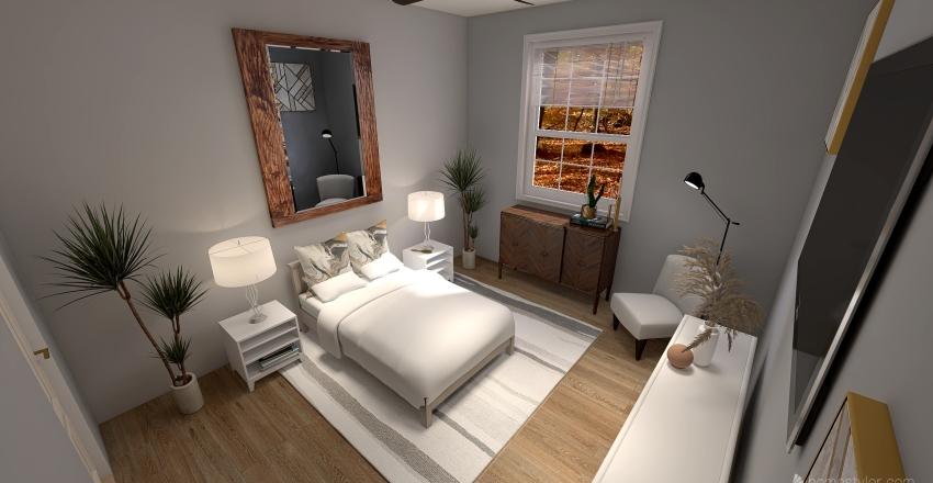 Single Master Bedroom / Bath Interior Design Render
