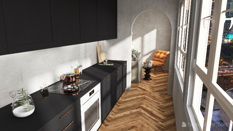 855 Apartment Interior Design Render