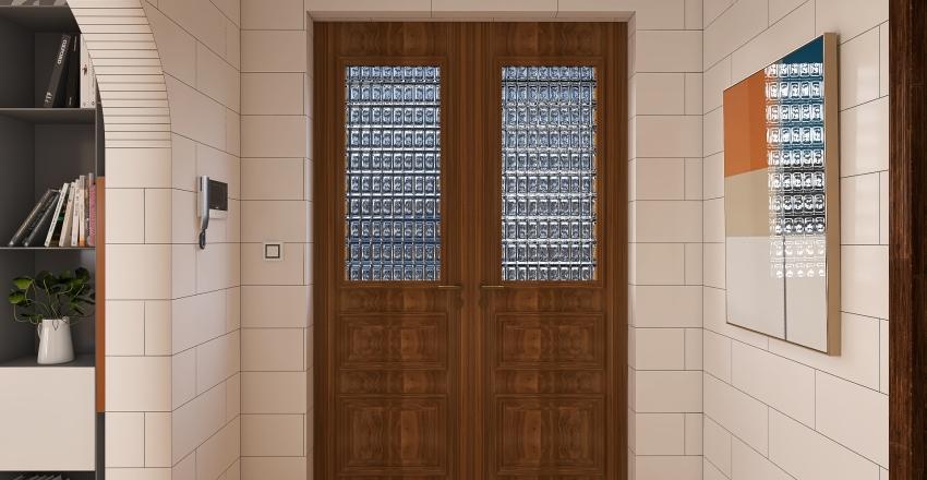 sixties appartement Interior Design Render