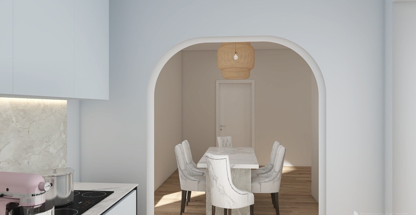 flower home a little bit   Interior Design Render