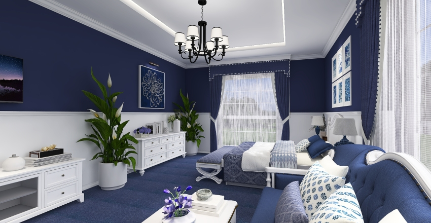bed room Interior Design Render