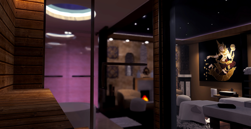 A Beautiful relaxing spa Interior Design Render
