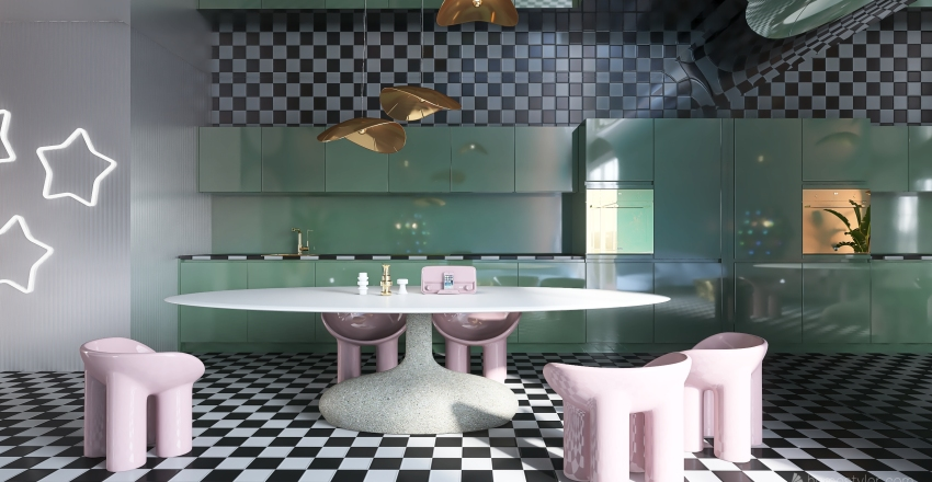 RETRO FUTURE Interior Design Render