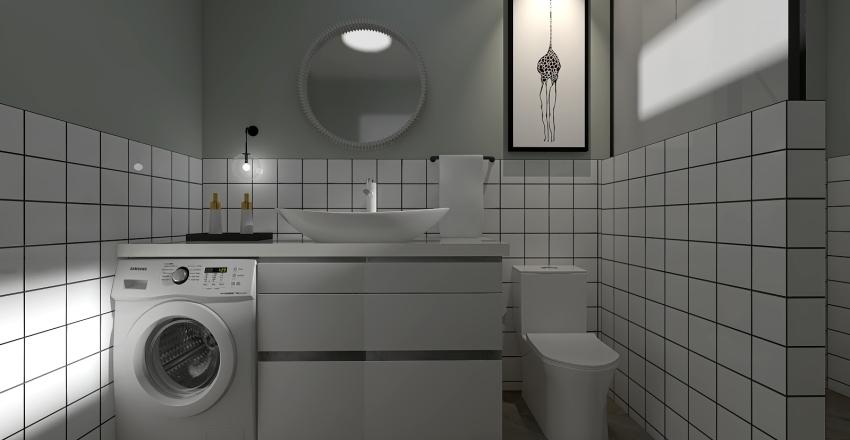 VIVIENDA PEQUEÑA FUERA DE LO COMÚN Interior Design Render