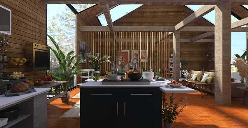 Its my idea of a small cabin in the woods. Interior Design Render