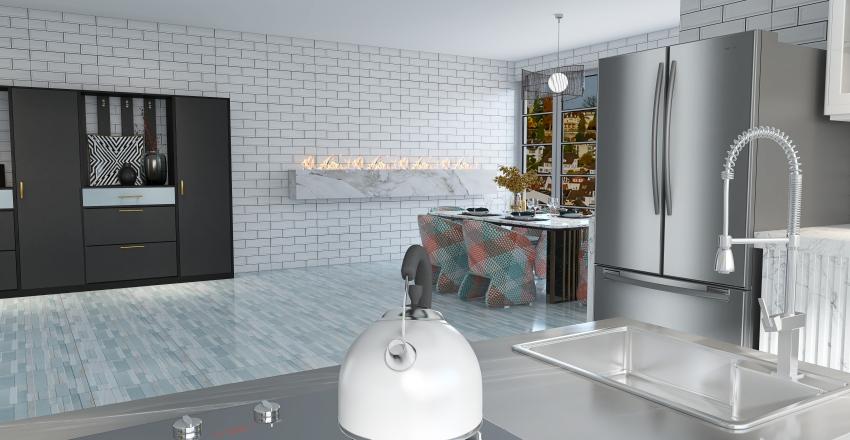 Modern Elegance in Old Town Interior Design Render
