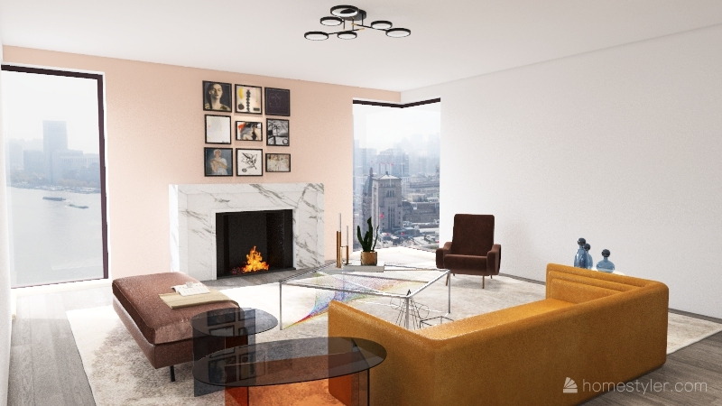 modern living room design  Interior Design Render