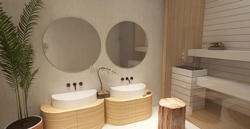 Estilo japandi Interior Design Render