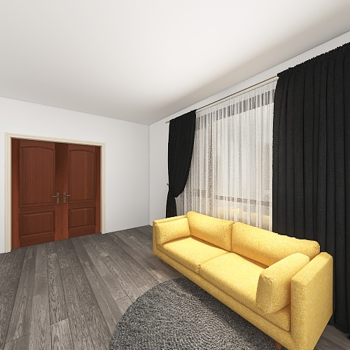 yellow office Interior Design Render