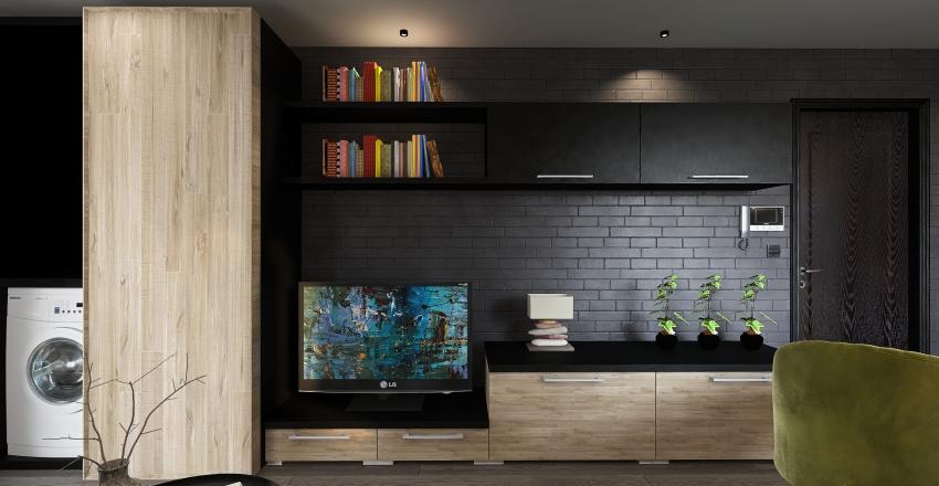 1 Bedroom apartment Interior Design Render