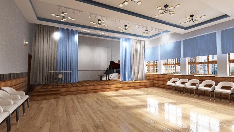 Актовый зал Interior Design Render