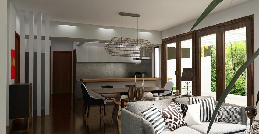 Art Deco House Interior Design Render