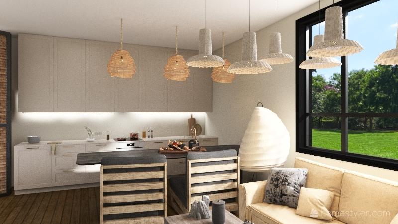 japandi dreams Interior Design Render