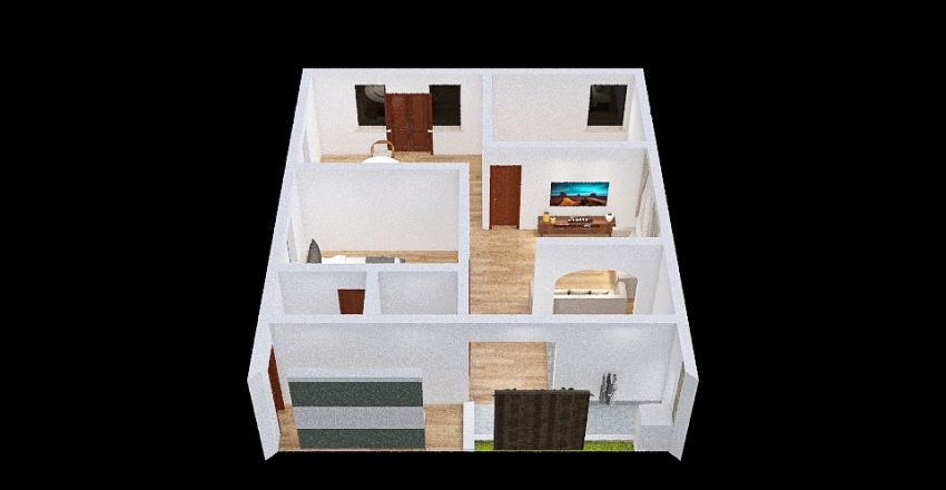 rumah ajibarang2 Interior Design Render