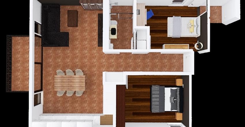 Muehle Neftenbach mit U-Küche Interior Design Render