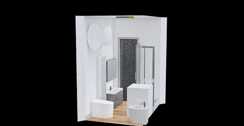 Bagno mattonelle 2 Interior Design Render