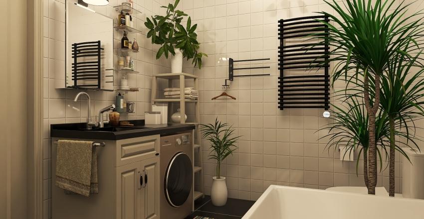 studio bachelor Interior Design Render