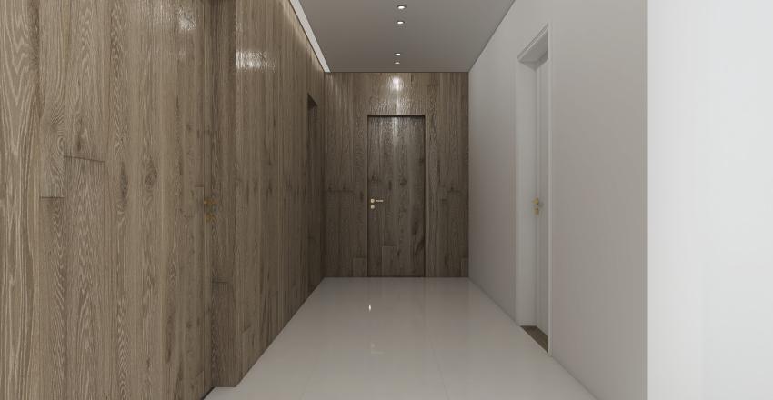 black modern villa Interior Design Render