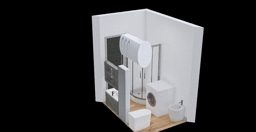 Bagno mattonelle Interior Design Render