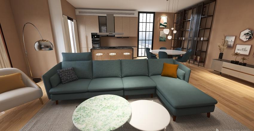 progetto iniziale tavolo rettangolare Interior Design Render