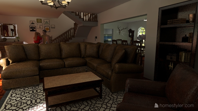 Family house Interior Design Render