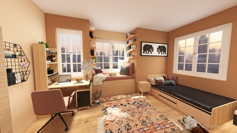 Room for one person Interior Design Render