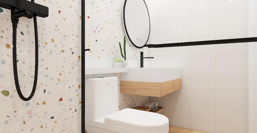 Banheiro marmorite Interior Design Render