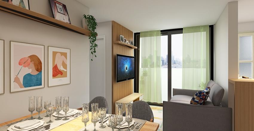 Apartamento 57 m² Interior Design Render