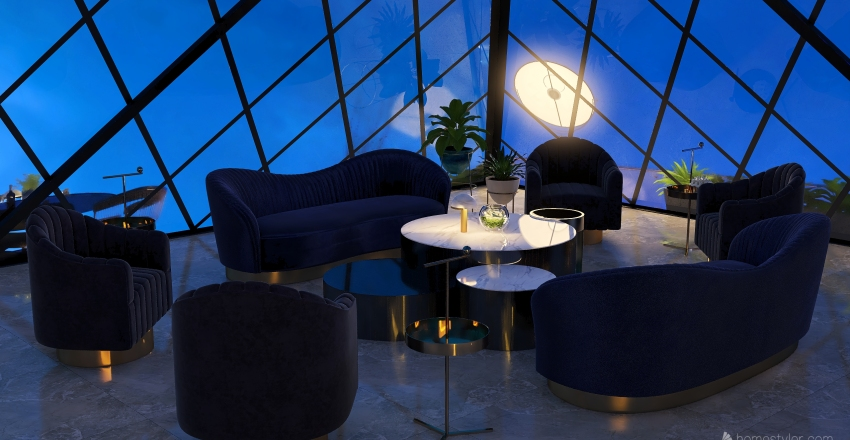 Skyline Louvre Interior Design Render