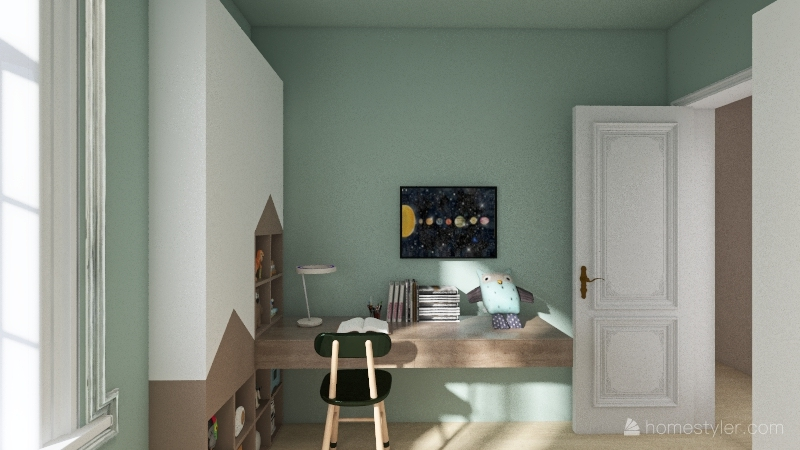 little happy house Interior Design Render