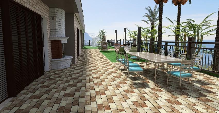 villa panoramica.. Interior Design Render