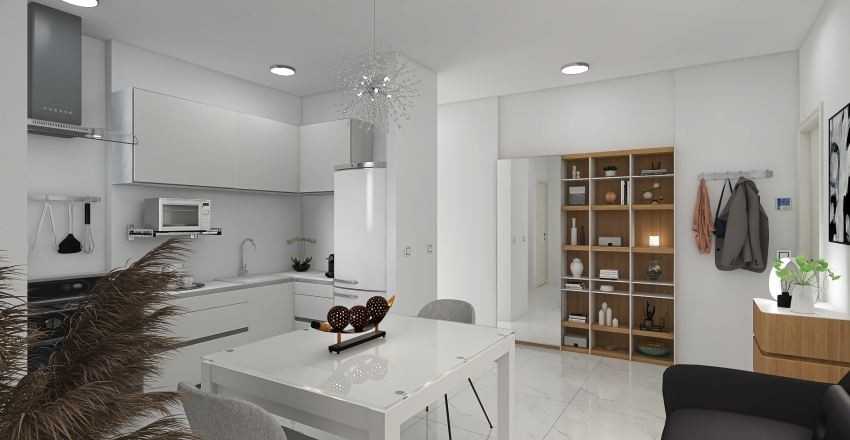 Via Abbiati 7 Interior Design Render