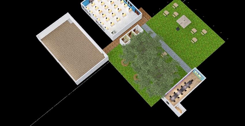 Espacio ideal de estudio Interior Design Render