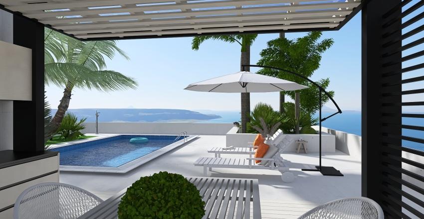 Un vistazo al mar Interior Design Render