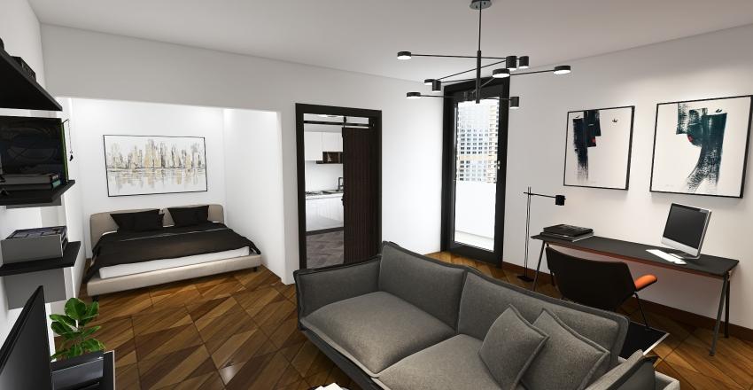 His Studio Interior Design Render