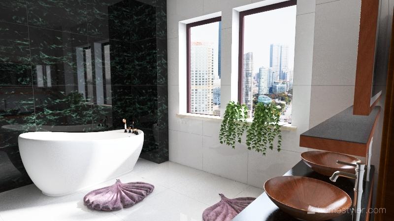 Copy of Bathroom green Interior Design Render