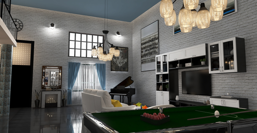 The ugliest Loft turned into a lovely one Interior Design Render